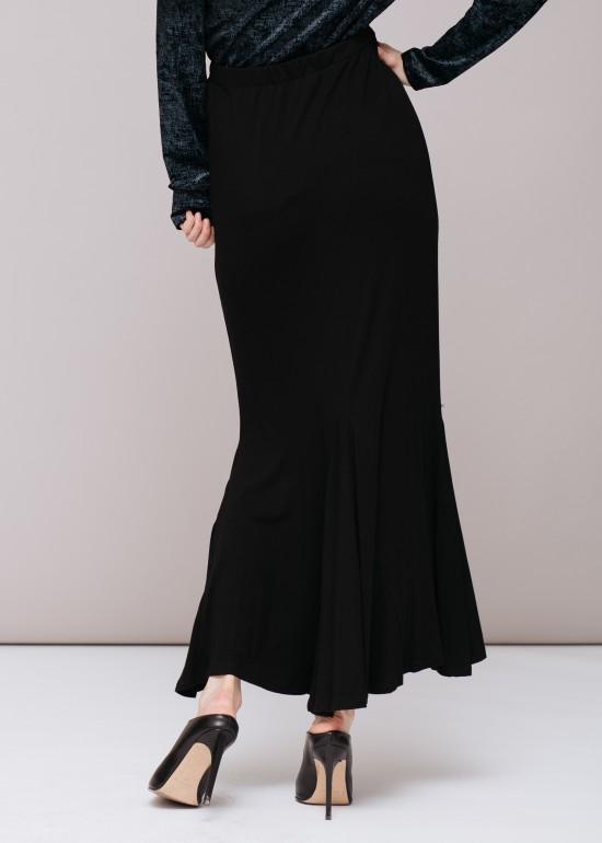 Long Ruffle Hem Skirt