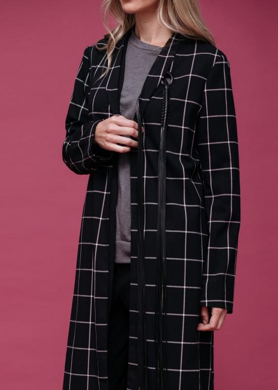 Winter Plaid Tailored Coat