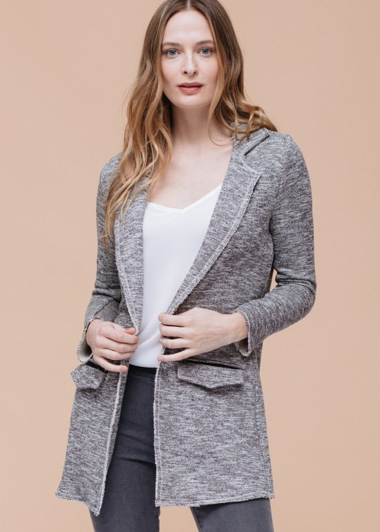 Open Front Jacket with Pockets