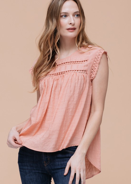 Geo Lace Insert Top