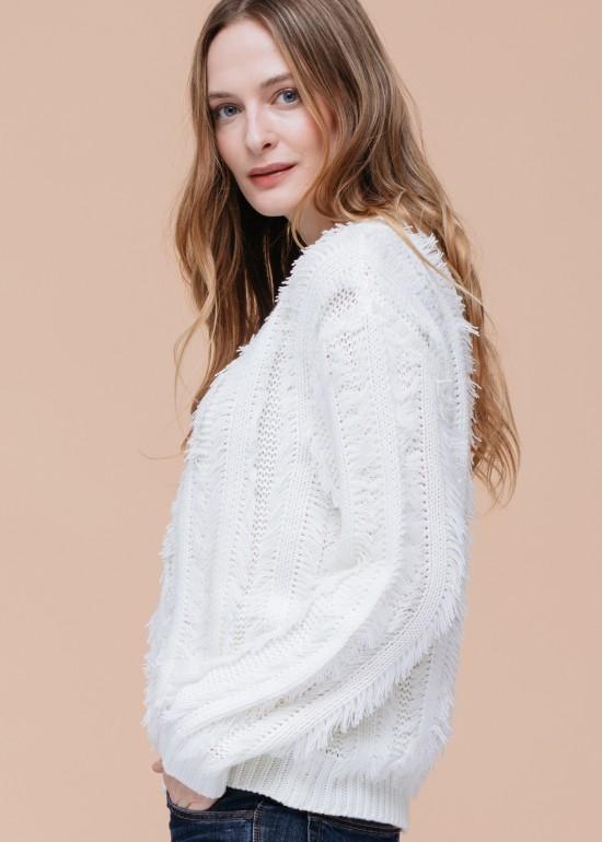 Allover Eyelash Sweater